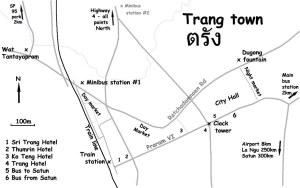 Trang Downtown Map