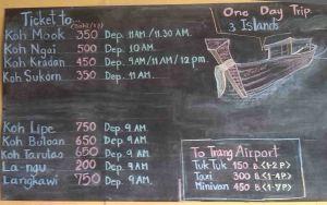 Sri Trang trip prices 2016